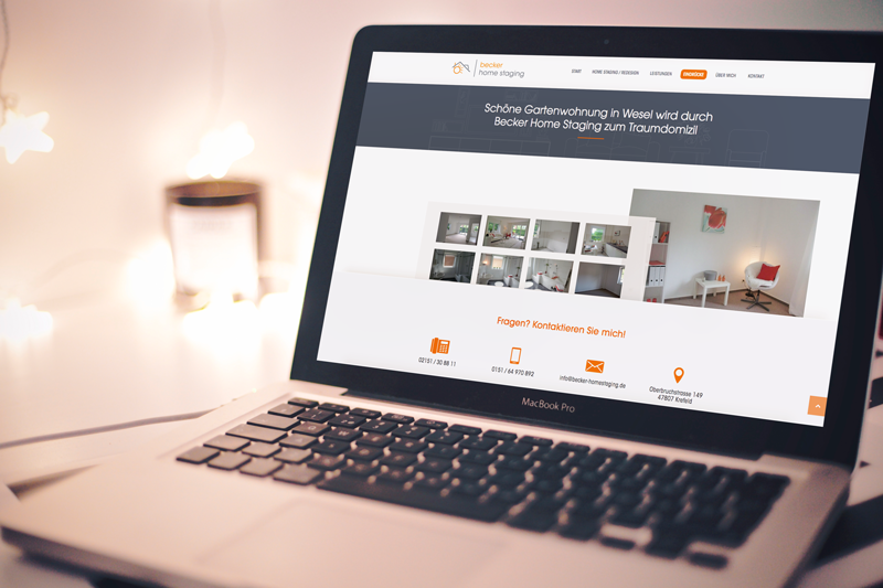 Webdesign becker home staging - pixelkultur krefeld